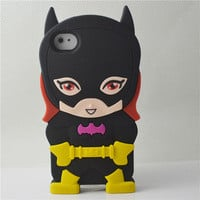 Source 3D black batman case for iphone 4 sublimation case soft silicone case for iphone 5 on m.alibaba.com