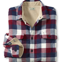 Fleece-Lined Flannel Shirt, Traditional Fit: Flannel, Chamois and Lined | Free Shipping at L.L.Bean