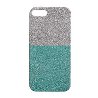 GIRLS' COLORBLOCK GLITTER CASE FOR IPHONE 5