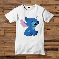 Stitch tshirt men T shirt White Black Dsign t-shirt men S,M,L,XL