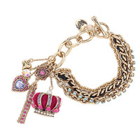 Betsey Johnson Crown Toggle Bracelet