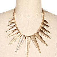 Gold Spike Necklace Set