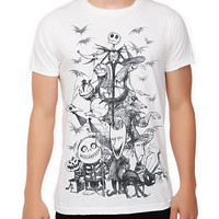 The Nightmare Before Christmas Sketch Slim-Fit T-Shirt