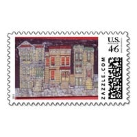 Three Painted Ladies Postage Stamp