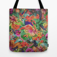 TROPICAL LOVE Tote Bag by Nika