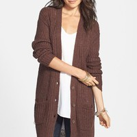 Rubbish® Rib Knit Tunic Cardigan (Juniors) | Nordstrom