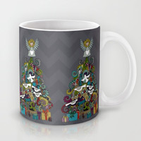 angel tree pewter Mug by Sharon Turner