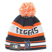 Detroit Tigers Team Colors The Jake 3 Beanie With Pom New Era Cap
