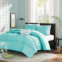 Mizone Haley 3 Piece Twin/TXL Comforter Set in Blue