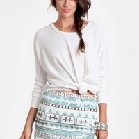 Sea Jewel Sequined Miniskirt