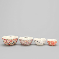 Plum & Bow Patterned Measuring Cup - Set Of 4 - Urban Outfitters