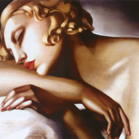 La Dormeuse Print by Tamara de Lempicka at Art.com