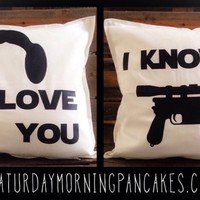 Star Wars Love Throw Pillow Set
