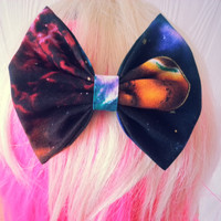 hair bow / galaxy hair bow / nebula / cosmic / cosmic hair bow / girls fabric bow / girls hair bow clip / galactic / galaxy bow / bow tie