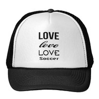Zazzle Love Soccer Sports Hat
