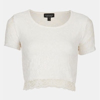 Topshop Lace Crop Top | Nordstrom