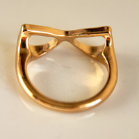 Gold Glasses Ring