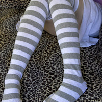 Socks by Sock Dreams » .Socks » Over The Knee » White Knees