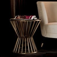 Round side table KHERO by Capital Collection by Atmosphera