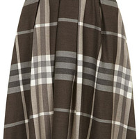 Neutral check circle skirt