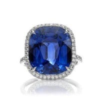 Harry Winston Rings: Colored Stone Rings - The One, Sapphire Micropave Ring