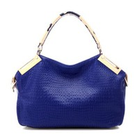 Fashion Stylish Diamond Check Emboss Handbag Shoulder Bag