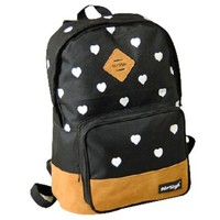 Sweet Cute Mixing Color Heart Print Bag Backpack