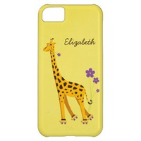 Cute Cartoon Giraffe Girly Personalized iPhone 5C Covers