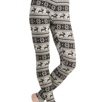 Ryu Deer Me Out Leggings in Stone | Mod Retro Vintage Pants | ModCloth.com