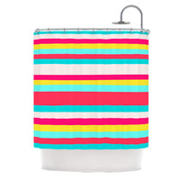 "Nika Martinez ""Girly Surf Stripes"" Shower Curtain"