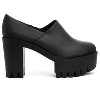 Black Vintage Platform Slip-On Boots