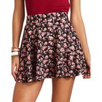ZIP-BACK SCUBA SKATER SKIRT