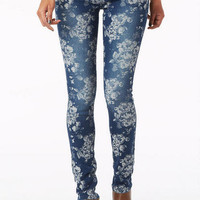 Olivia Jacquard Wash Low-Rise Jegging