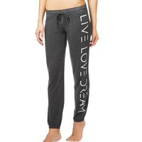 Logo Text Slim Cinch Lounge Pants -