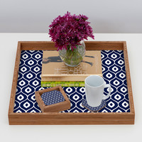 Aimee St Hill Leela Navy Coaster Set