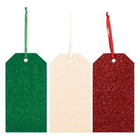 Holiday Fun Glitter Gift Tags
