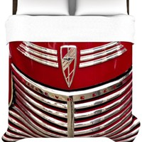 Kess InHouse Ingrid Beddoes 88 by 88-Inch Red Chevy Duvet, Queen