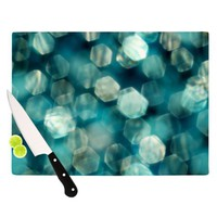 Kess InHouse Ingrid Beddoes Shades of Blue Cutting Board, 11.5 by 8.25-Inch