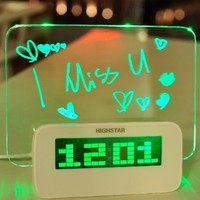 Fluorescent message board alarm clock BBCJE