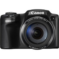 Canon - PowerShot SX510 HS 12.1-Megapixel Digital Camera - Black