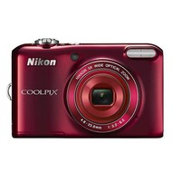 Nikon - Coolpix L28 20.1-Megapixel Digital Camera - Red