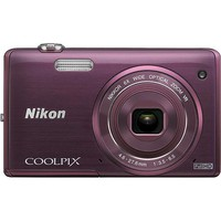 Nikon - Coolpix S5200 16.0-Megapixel Digital Camera - Plum
