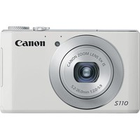 Canon - PowerShot S110 12.1-Megapixel Camera - White