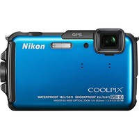 Nikon - Coolpix AW110 16.0-Megapixel Digital Camera - Blue