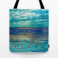 FANTA-SEA IN BLUE Tote Bag by catspaws