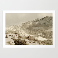 Snow forest. Retro Art Print by Guido Montañés