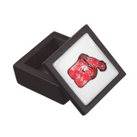 Ho Ho Ho! Santa Claus Hat Merry Christmas Star.png Premium Keepsake Boxes