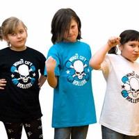 Windy City Rollers WCR Logo Youth Tee - White Kids Clothing at Broken Cherry