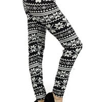 Simply Snowflakes Fleece Lined Leggings