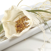 FREE SHIPPING - Oakmoss & Sage scented Potpourri Sachet 3x4 Muslin Bag -- Home/Car Fragrance